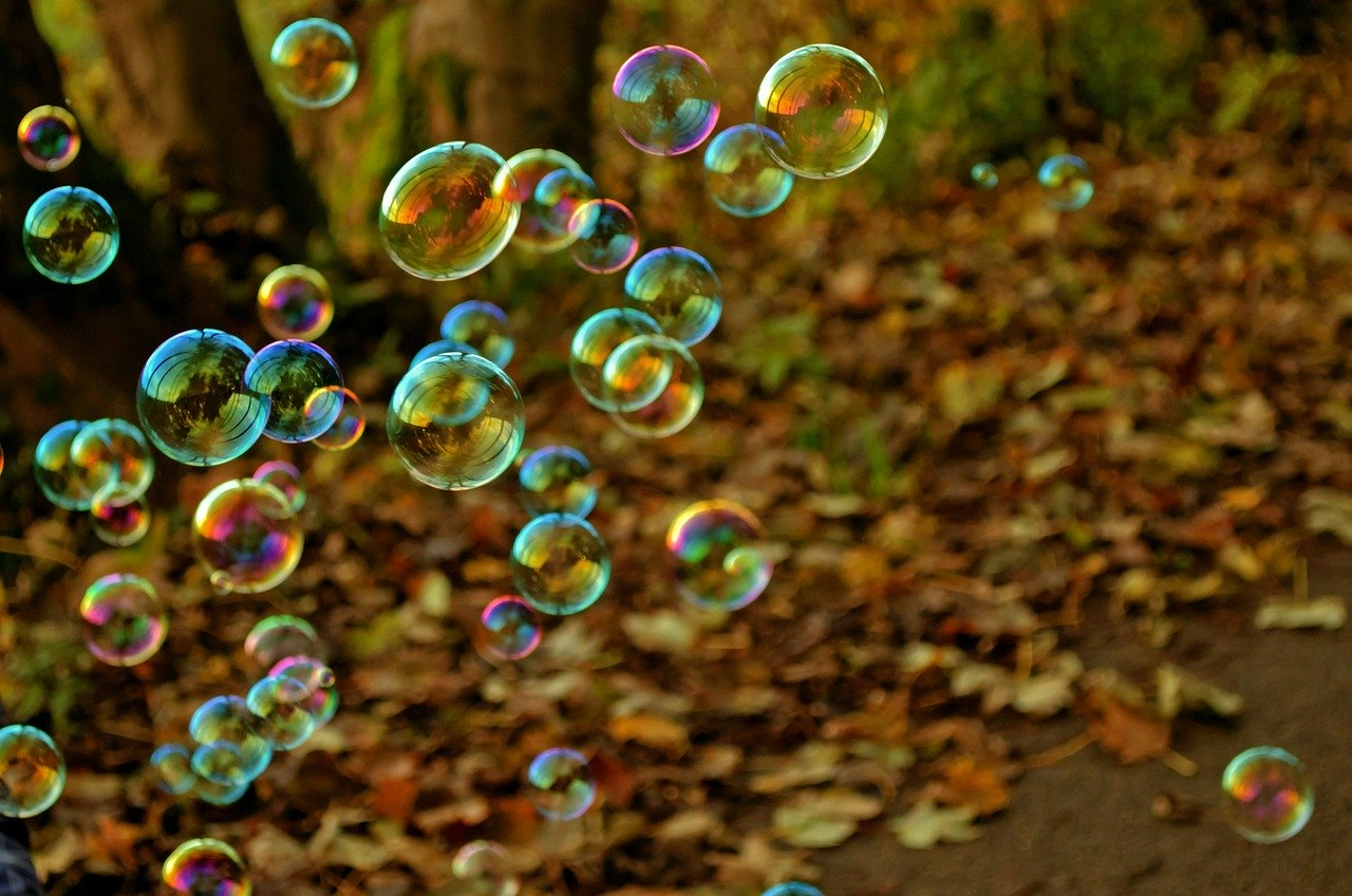 Viele Seifenblasen - viele Vorteile des Minimalismus