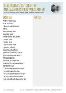 Dein Wichtig Liste für minimalistische Babyausstattung